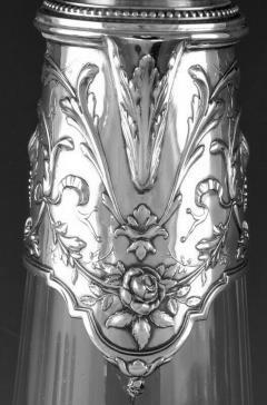 Art Nouveau Silver and Glass Claret Jug Germany C 1900 J Mayers Sohne - 1457593