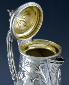 Art Nouveau Silver and Glass Claret Jug Germany C 1900 J Mayers Sohne - 1457594