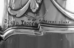 Art Nouveau Silver and Glass Claret Jug Germany C 1900 J Mayers Sohne - 1457596