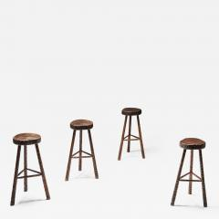 Art Populaire Bar Stools Mid Century Modern 1950s - 2134366