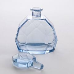 Art deco blue crystal cocktail set - 1991245