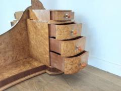 Art deco dressing table in birdseye maple with amber bakelite handles - 1942846