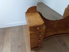 Art deco dressing table in birdseye maple with amber bakelite handles - 1942848