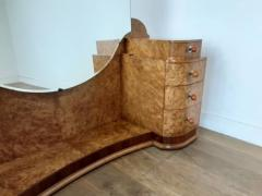 Art deco dressing table in birdseye maple with amber bakelite handles - 1942856