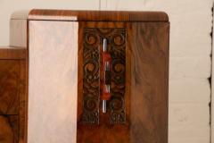 Art deco figured walnut sideboard - 2061543