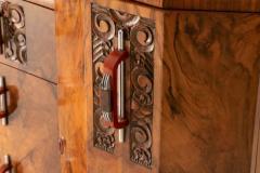 Art deco figured walnut sideboard - 2061544