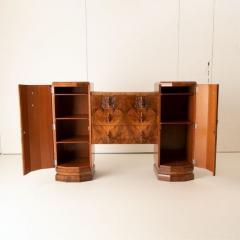 Art deco figured walnut sideboard - 2061546