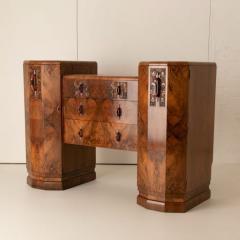 Art deco figured walnut sideboard - 2061547