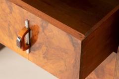 Art deco figured walnut sideboard - 2061549