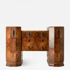 Art deco figured walnut sideboard - 2063963