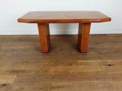 Art deco golden oak pedestal dining table - 1942802