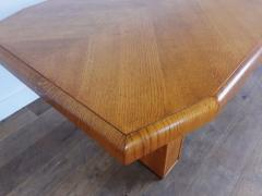 Art deco golden oak pedestal dining table - 1942834