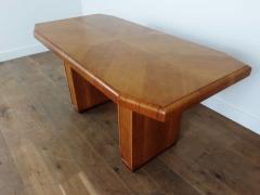 Art deco golden oak pedestal dining table - 1942835