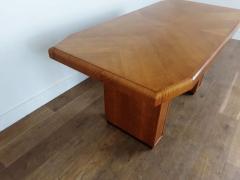 Art deco golden oak pedestal dining table - 1942836