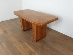 Art deco golden oak pedestal dining table - 1942850