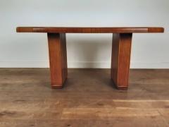 Art deco golden oak pedestal dining table - 1942852