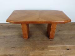 Art deco golden oak pedestal dining table - 1942854