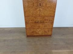 Art deco karelian birch linen press - 1942881