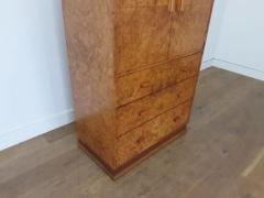 Art deco karelian birch linen press - 1942885