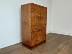 Art deco karelian birch linen press - 1942888