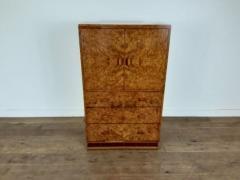 Art deco karelian birch linen press - 1942889