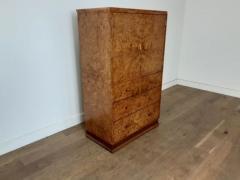 Art deco karelian birch linen press - 1942890