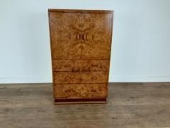 Art deco karelian birch linen press - 1942891