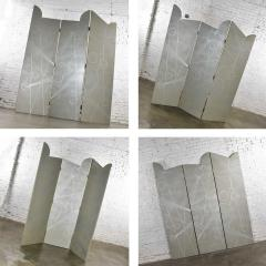 Art deco revival 3 panel folding screen or room divider gold silver bronze - 1881594