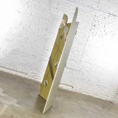 Art deco revival 3 panel folding screen or room divider gold silver bronze - 1881615