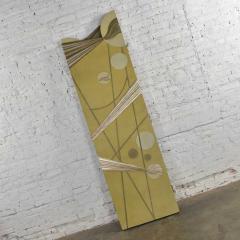 Art deco revival 3 panel folding screen or room divider gold silver bronze - 1881639