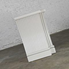 Art deco revival custom fluted off white oyster gray console cabinet buffet - 2130319