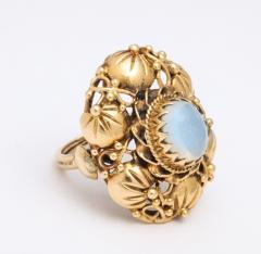 Art nouveau moonstone ring - 1747974