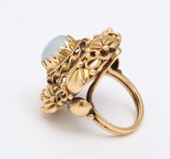 Art nouveau moonstone ring - 1747977