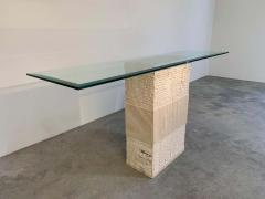 Artedi Contemporary Italian Travertine Marble Console Table after Artedi - 1920405