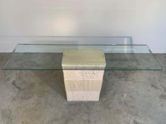 Artedi Contemporary Italian Travertine Marble Console Table after Artedi - 1920408