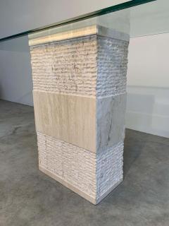 Artedi Contemporary Italian Travertine Marble Console Table after Artedi - 1920411