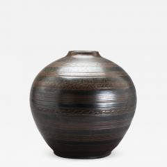 Arthur Andersson Monumental Vase with Carved Ornaments by Arthur Andersson for Wall kra - 1085017