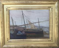 Arthur Grover Rider Spanish Coastal Scene with Fishermen in Boats - 1712248