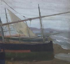 Arthur Grover Rider Spanish Coastal Scene with Fishermen in Boats - 1712250