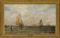 Arthur Quartley Coming Into Harbor Long Island New York - 1192893