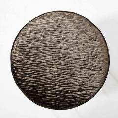 Arthur Umanoff Midcentury Chrome and Smoked Bronze Gauffraged Velvet Stools by Arthur Umanoff - 1802380