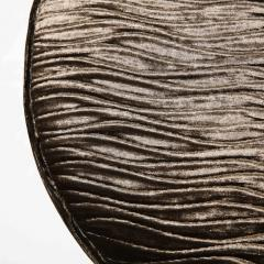 Arthur Umanoff Midcentury Chrome and Smoked Bronze Gauffraged Velvet Stools by Arthur Umanoff - 1802381