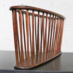 Arthur Umanoff Walnut oval magazine rack attributed to arthur umanoff for washington woodcraft - 1706039