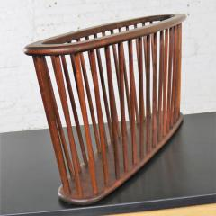 Arthur Umanoff Walnut oval magazine rack attributed to arthur umanoff for washington woodcraft - 1706090