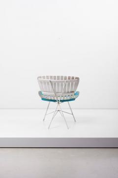 Arthur Umanoff Wood Slat and Iron Low Lounge Chair by Arthur Umanoff for Raymor US 1950s - 1238883