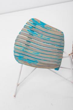 Arthur Umanoff Wood Slat and Iron Low Lounge Chair by Arthur Umanoff for Raymor US 1950s - 1238884