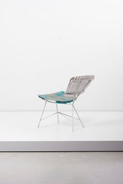 Arthur Umanoff Wood Slat and Iron Low Lounge Chair by Arthur Umanoff for Raymor US 1950s - 1238885