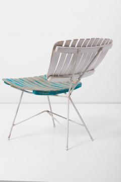 Arthur Umanoff Wood Slat and Iron Low Lounge Chair by Arthur Umanoff for Raymor US 1950s - 1238886