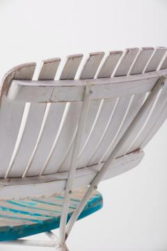 Arthur Umanoff Wood Slat and Iron Low Lounge Chair by Arthur Umanoff for Raymor US 1950s - 1238887