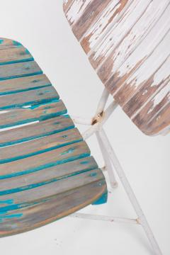 Arthur Umanoff Wood Slat and Iron Low Lounge Chair by Arthur Umanoff for Raymor US 1950s - 1238888